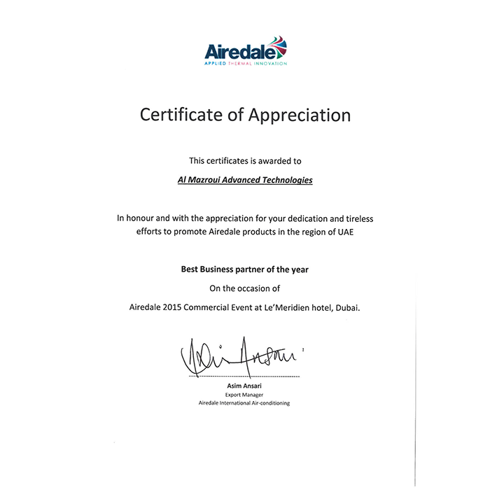 Airedale - Best Business Partner