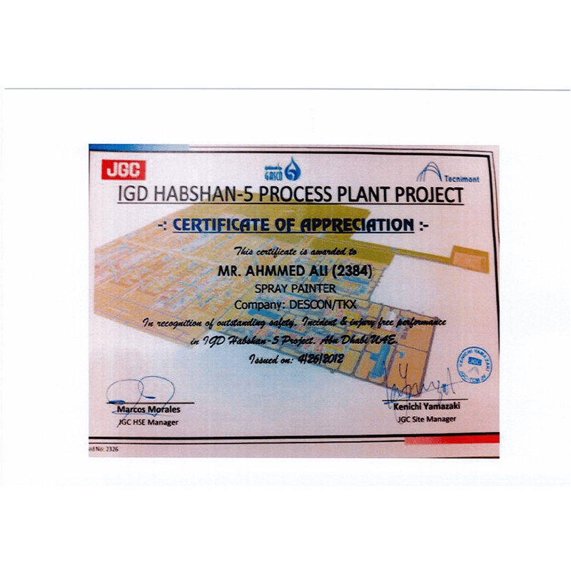 IGD Habshan-5 Process Plant Project