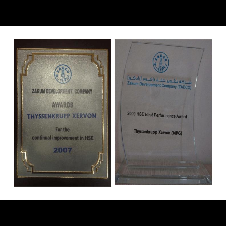 Zakum Development Company Awards